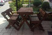 نیمکت و میز و صندلی چوبی تاشو