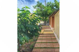 سنگ فرش خورشیدی چرمی و آجری برای محوطه ویلا