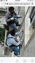 ترمیم نمای ساختمان ها با طناب در تبریز