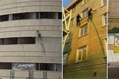 پیچ و رولپلاک کردن نمای ساختمان در تهران