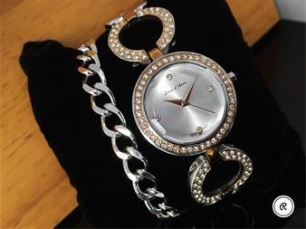 خرید ست ساعت مچی زنانه و دستبند زنانه 98