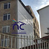 اجرای نانو روی نمای ساختمان و کار در ارتفاع