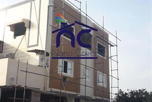 عایق نانویی رنگی روی دیوار ساختمان