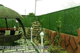 فنس و دیوار سبز چمنی