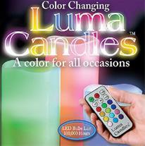 شمع ال ای دی 12 رنگ - Luma Candles (Mzkala)