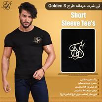 تی شرت مردانه طرح Golden S(Mzkala)
