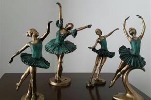 مجسمه های 4 تایی رقص باله