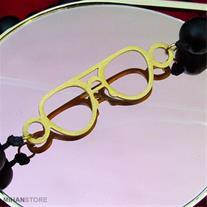 گردنبند سنگی پلاک عینک(Mzkala)