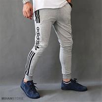 شلوار اسلش مردانه Adidas طرح Grey (Mzkala)