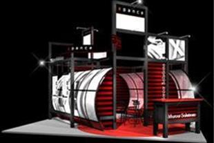 CD طرح سه بعدی آماده برای غرفه های نمایشگاهی