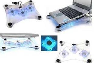 میز لپ تاپ پایه دار با 3 فن قوی و LED