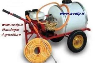 سمپاش فرغونی و زنبه موتوری برقی ،  پشت تراکتوری