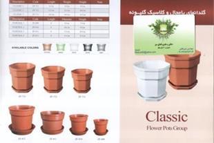 گلدان کلاسیک شش ضلعی گلپونه-giahiran.com