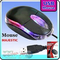 موس مجستیک چند رنگ USB فروش ویژه همراه با هدیه