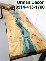 طراحی و فروش انواع میز ترکیبی چوب و شیشه در تبریز