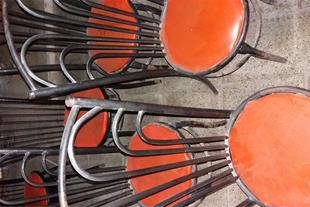 7 عدد صندلی نو و تمیز تزئینی.
