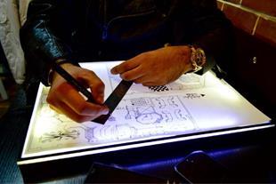 میز نور پرتابل نقشه کشی