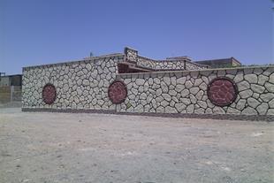 نمای طرح چوب و سنگ