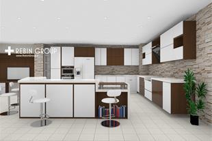 طراحی آشپزخانه مدرن ارزان با چیف (Chief)
