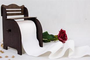 پایه دستمال توالت رولی طرح نیمکت