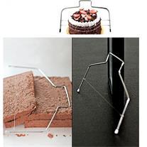 اره برش کیک دو تیغه متحرک استیل