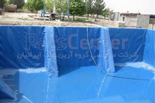 ساخت استخر کشاورزی با ورق ژئوممبران آبی در شهریار