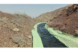 آب بندی کانال انتقال آب در جلفا