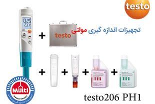 اسید و دما سنج مایعات testo 206 PH1