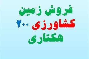 فروش زمین کشاورزی 200 هکتاری استان قزوین