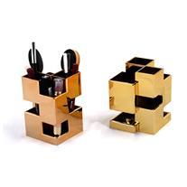 جعبه لوازم آرایش طلایی