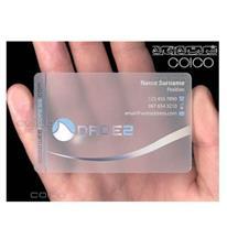 چاپ انواع کارت ویزیت pvc شفاف شیشه ای