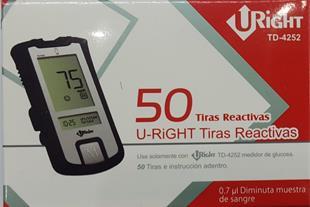 فروش نوار تست قند خون Uright قرمز TD-4252
