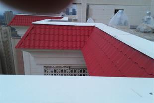 اجرای نمای فلزی ساختمان و قرنیز