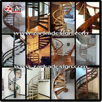 پله گرد فلزی و چوبی