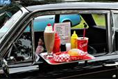 فروش میز غذاخوری آویز دار ماشین