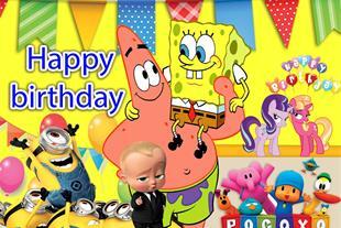 بنر فوری تولد - چاپ بنر تولد کارتونی