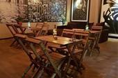 میز و صندلی چوبی تاشو کافی شاپ و رستورانی