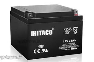 باتری  یو پی اس 12 ولت 28 آمپر هیتاکو مدل 12V28AH