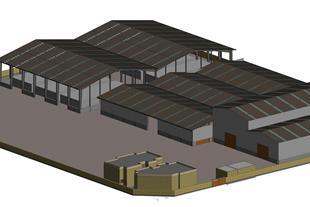 مدلسازی یک کارخانه صنعتی (معماری، سازه و تاسیسات)