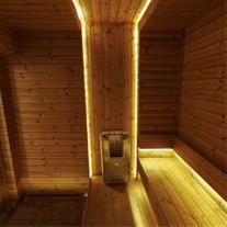 طراحی و اجرای سونا خشک با چوب ترمو وود