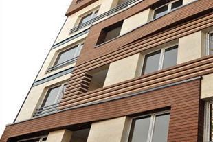 طراحی مدرن نمای چوبی ساختمان