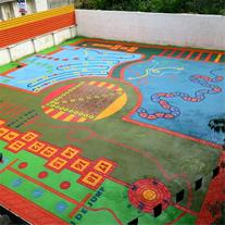 حیاط پویا ، زیباسازی مدرسه ، زمین بازی