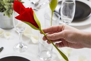 نگهدارنده دستمال سفره طرح گل رز