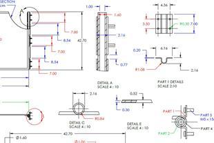 طراحی و ارائه نقشه مهندسی معکوس تحلیل قطعات